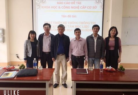 Bảo vệ thành công đề tài KHCN cấp cơ sở của TS. Đậu Mạnh Hoàn