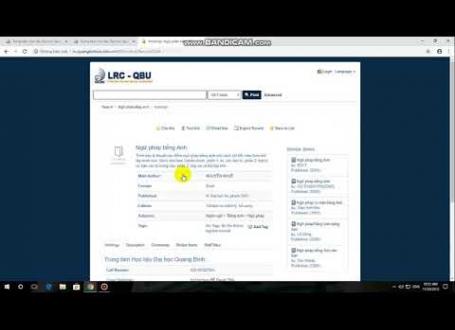 VIDEO HƯỚNG DẪN TÌM KIẾM, GIA HẠN VÀ ĐẶT MƯỢN TÀI LIỆU TRÊN WEBSITE